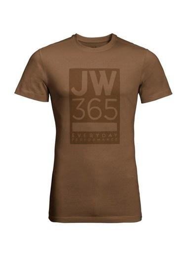 Jack Wolfskin 365 Tee Erkek T-Shirt - 1806621-5129 Kahve